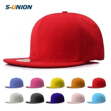 S-UNION Hoge kwaliteit Solid plain snapback caps custom hip hop flat <span class=keywords><strong>bill</strong></span> heren snapback hoeden vrouwen leeg baseball <span class=keywords><strong>cap</strong></span>