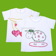 CU2241 Fashion kids Diy T-shirt , blank white t shirt below $1
