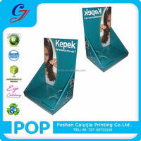 Cardboard Displays Counter PDQ Box Merchandising Display Stands for Hair Care Product