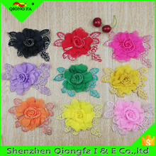 New European root yarn embroidered chiffon three - dimensional decals diy accessories gold thread flowers cloth paste