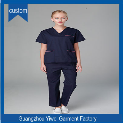Fashion V neck nurse uniform/medical scrubs /hospital uniform