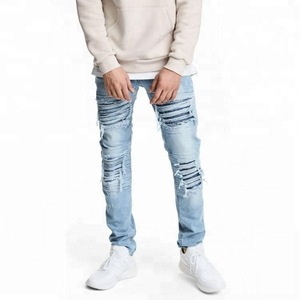 Wholesale Mens Jeans Denim Fabric Trendy Pants