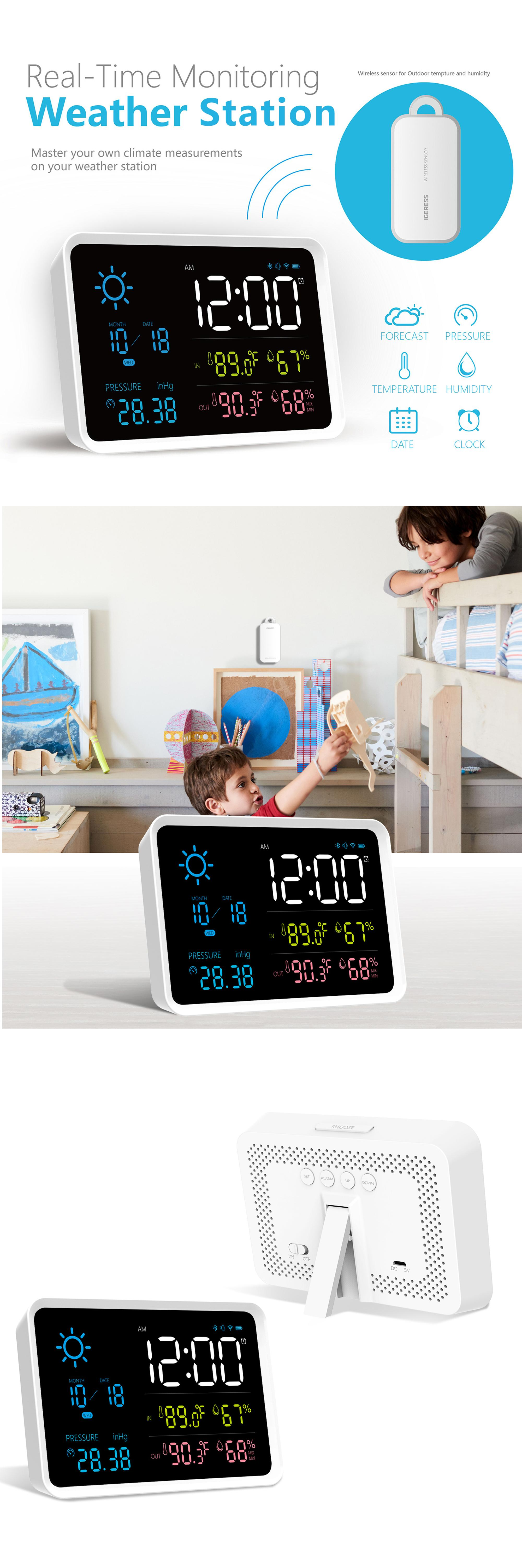 New style automatic Multi color wireless professional weather station