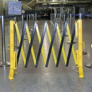 Security Retractable Barricade Fence A Frame Road Plastic Safety Barrier