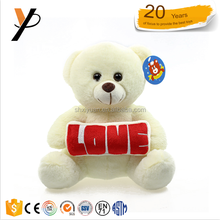 OEM custom logo stuffed cute cheap white teddy bear plush toys