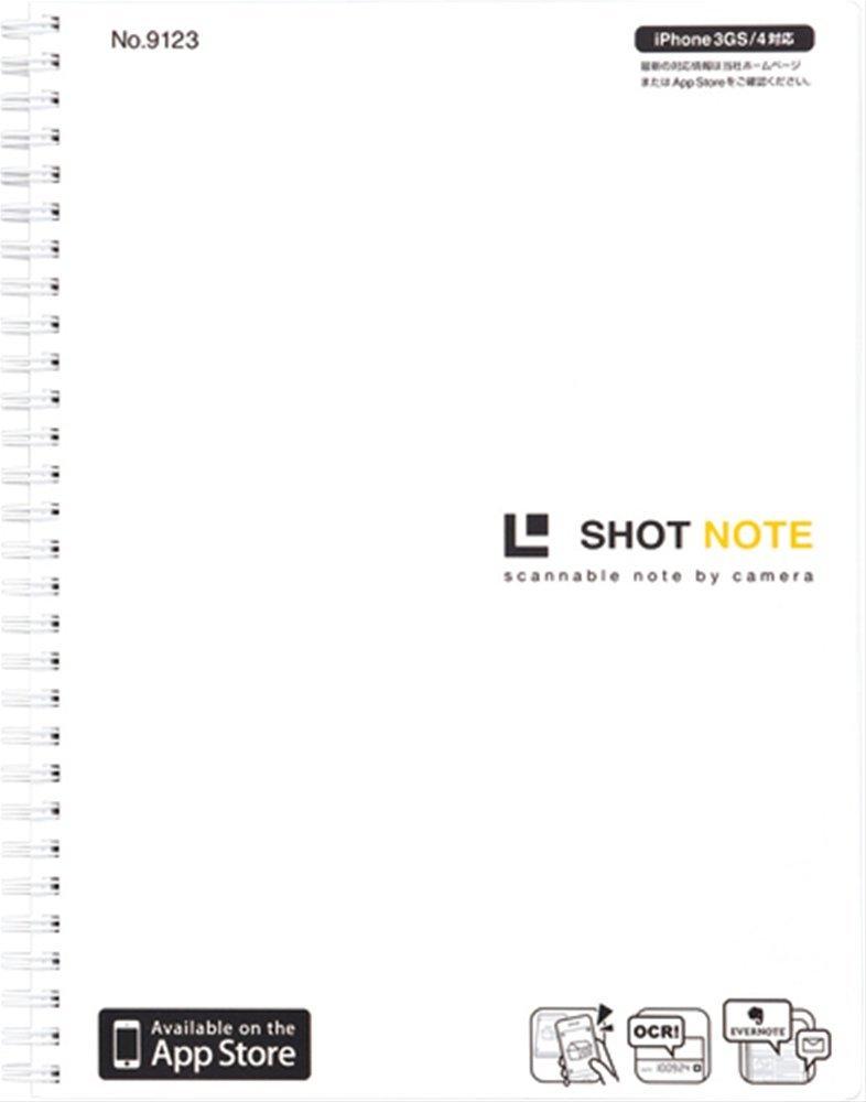 Jim King shot Notes (twin ring type) LL size white 9123 white (japan import)