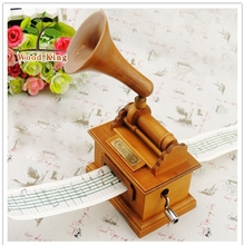 Wholesale Arts And Crafts Creative Hand-Rolling Paper With The Phonograph Music Box Custom Logo Diy Music Box