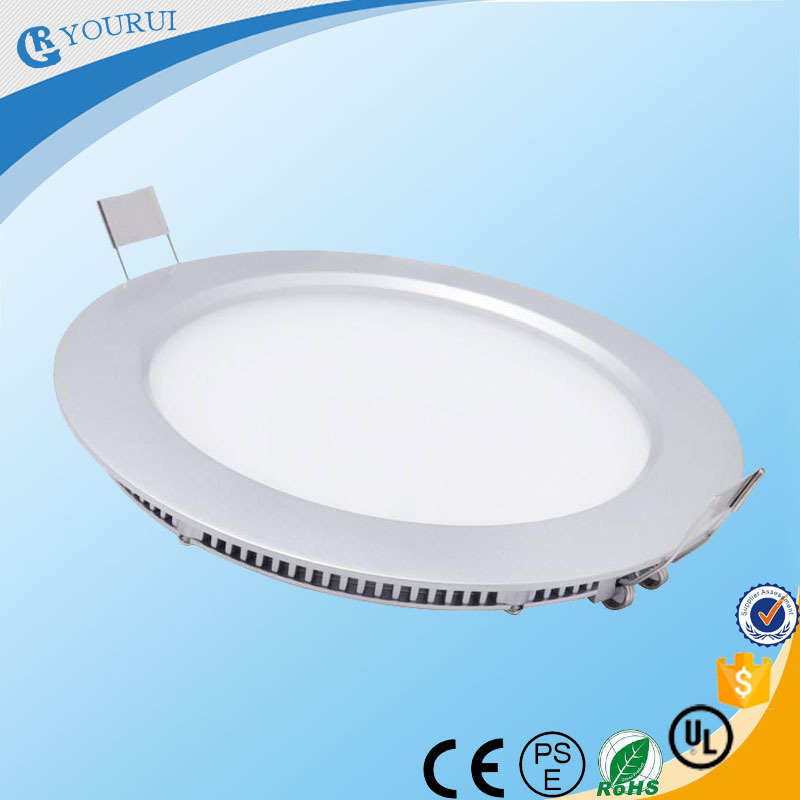 Bright round slim led ceiling panel light 6w 12w 15w 18w for office