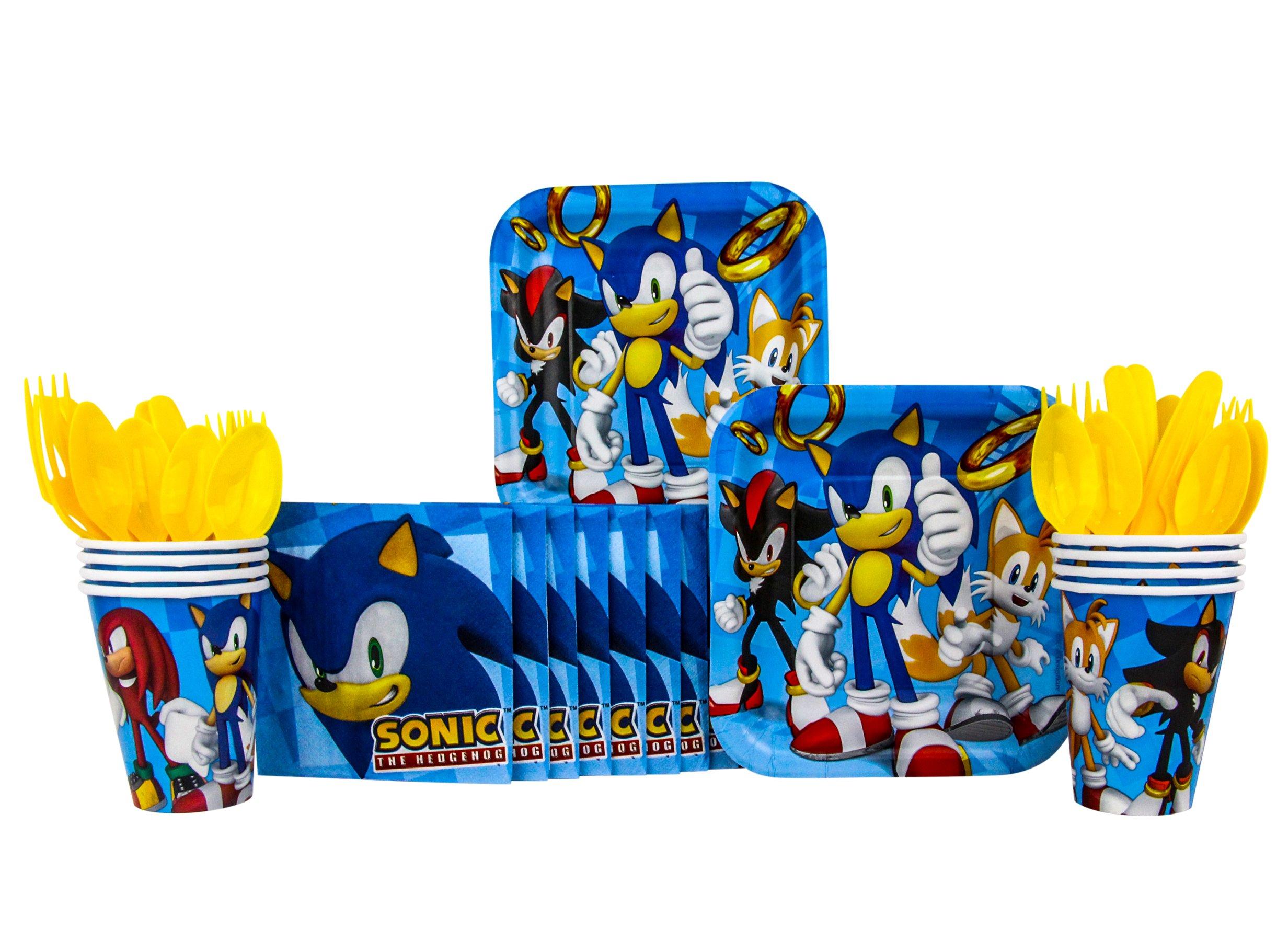 Sonic The Hedgehog Party Supplies 48 Pack Beverage Napkins Formtech Inc Com