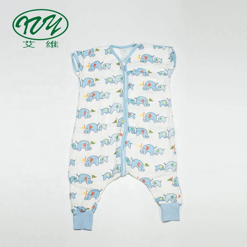 Custom พิมพ์ Sleeping Sack Muslin With ฟุต