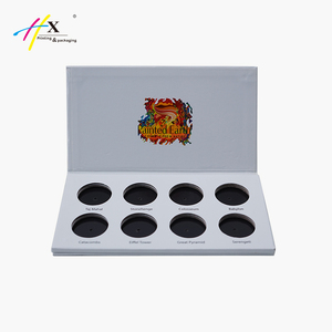 Custom your private label eyeshadow palette packaging paper box