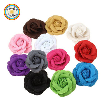 YWTB060 RDT Korean Novelty Wedding Bride Dress and Groom Suites Decoration Accessories Felt Material Camellia Flower Brooches