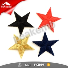Colorful Star iron on embroidered patches for garment
