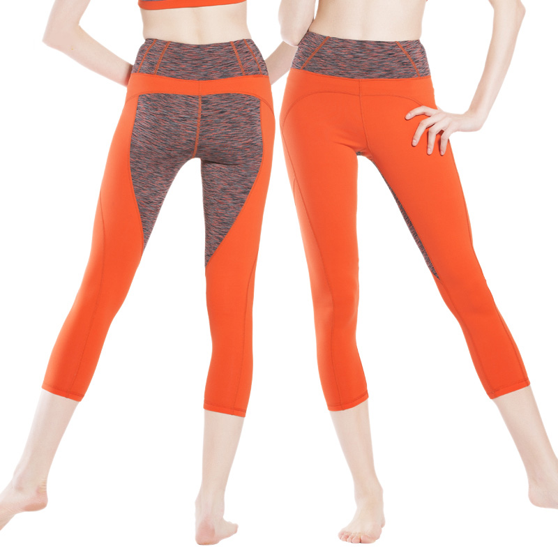 High Quality Yoga Workout Cropped Pants Women Slim Fit Performance Leggings