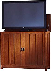 Touchstone 72006 Elevate Mission TV Lift Cabinet For TVs Up To 42 inches, Whisper Lift (Mission Oak)