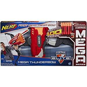 Nerf Mega ThunderBow Blaster Has Real Bow Action and Flexing Bow Arms