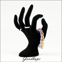 Top Black Velvet OK Hand Display Hand Model Ring Reveal Rack Bracelet Bangle Anklet Chain Jewelry Showing Stand Organizer Case