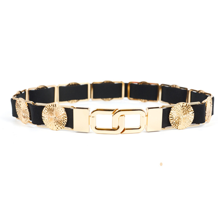KDA8903 New fashion gold metal decorative wide belts for women