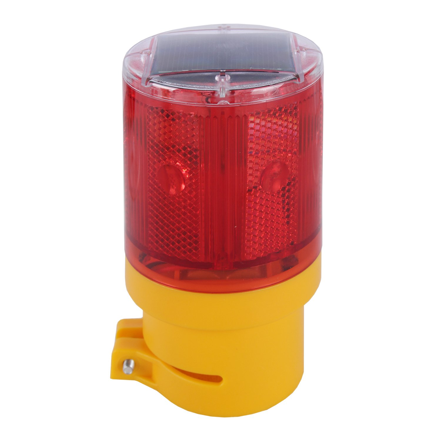 Waterproof LED Solar Strobe Warning Light Flashing Road Barricade Signal Lamp