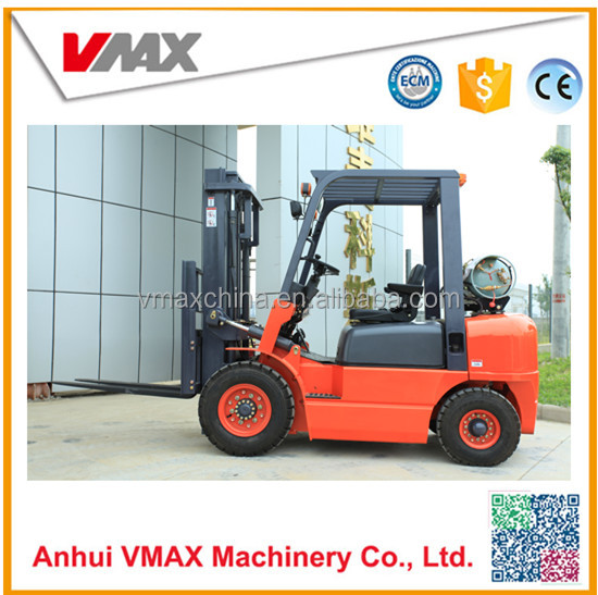 vmax 2.5 ton LPG forklift with chinese engine GQ-4Y forklift