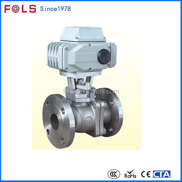 220v Flange Ball Valve Electric Actuator 4-20ma Valve