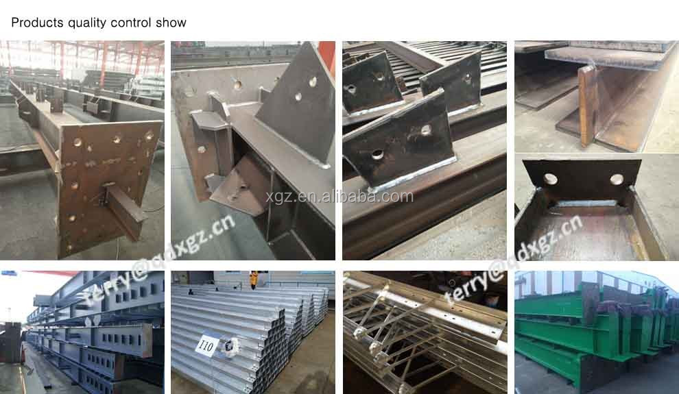 Fast assembly low cost prefab steel structure for warehouse,workshop and cow farming