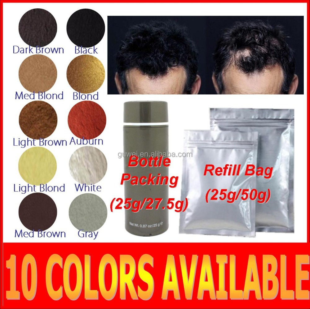 Private label hair fibers ,hair loss treatment for men and women 10 colors