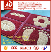 Wholesale square and colorful door mat