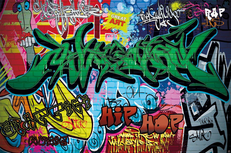 Wall mural street style mural decoration graffiti art writing pop art letterings wall painting wall urban