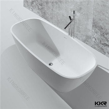 Modern Two Person Freestanding Faux Stone French Bathtubs