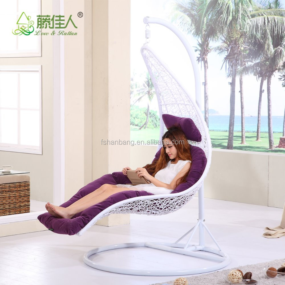 White Lime Outdoor Patio Enclave Lounge Swing Bed Chair Wicker