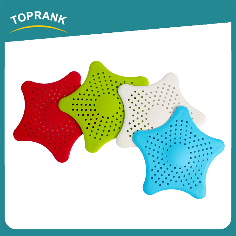 Toprank New Cute Home Living Floor Drain Hair Stopper Bath Catcher Sink Strainer Sewer Filter Plastic Shower Drain Cover