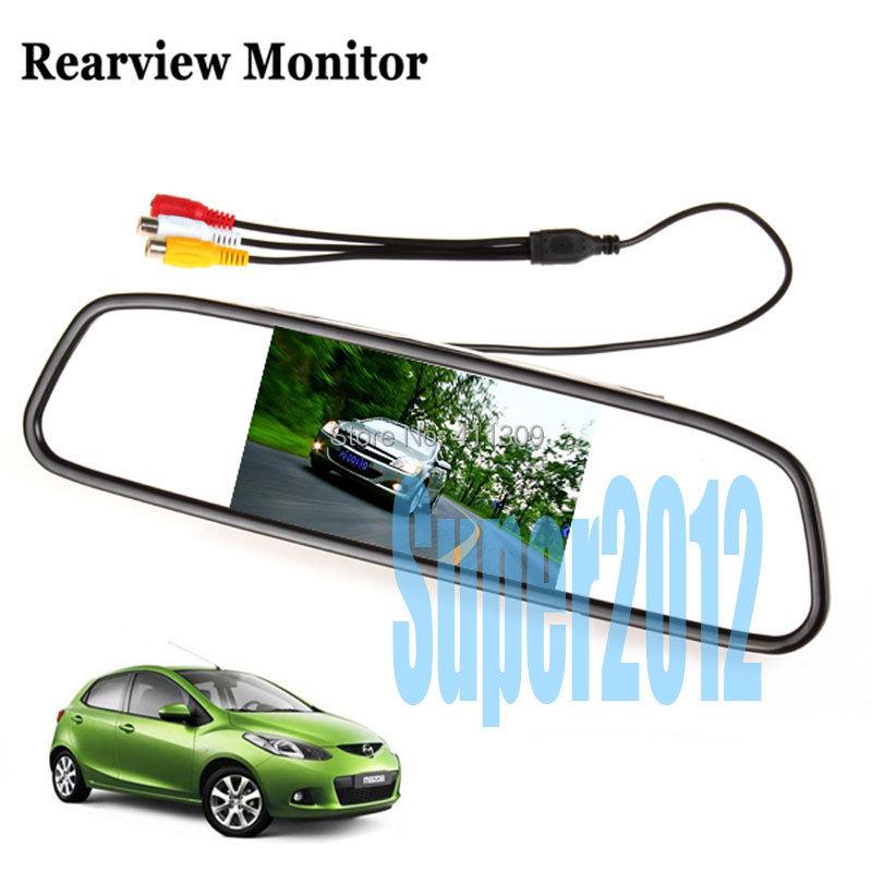 4.3 дюймов автомобиль зеркало заднего вида монитор парковочный монитор + специальный автомобиль камера заднего вида для Hyundai Solaris Verna седан
