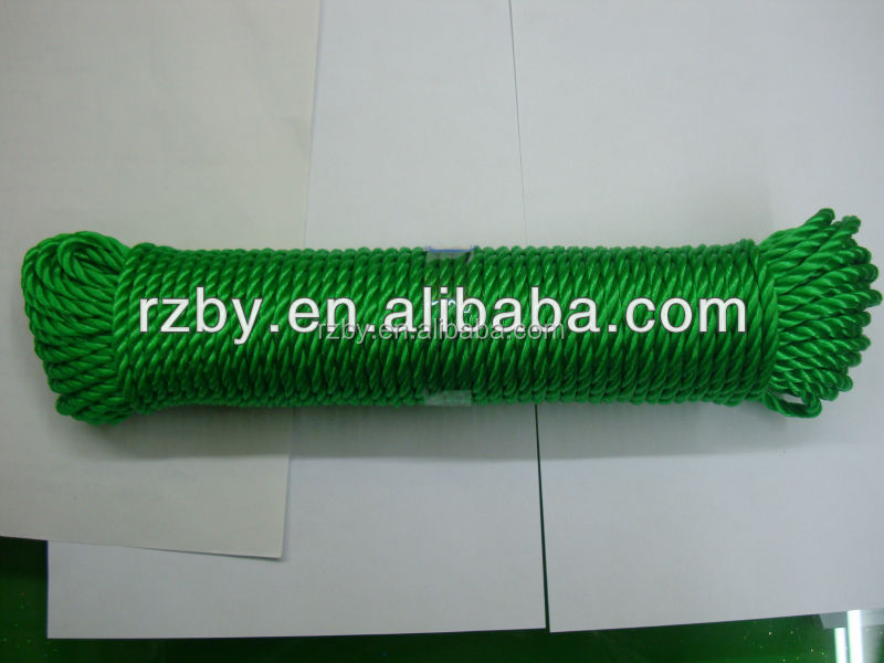 Twisted Green PE rope