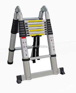 BF-A280 aluminium retract telescopic household step folding ladder from jinhua factory