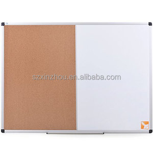 Magnetic Dry Erase & Cork Board Combination, Home Office Decor Combination Board with Aluminum Frame