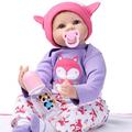 Newest 22Inch 55cm Silicone Vinyl Baby Reborn Dolls adora chucky Handmade Kids Princess Toys Children bonecas