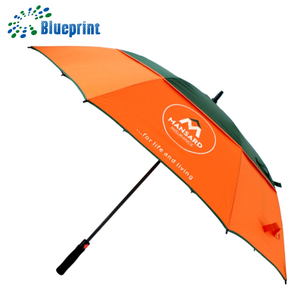 30 inches fiberglass shaft with hole fabric golf umbrella