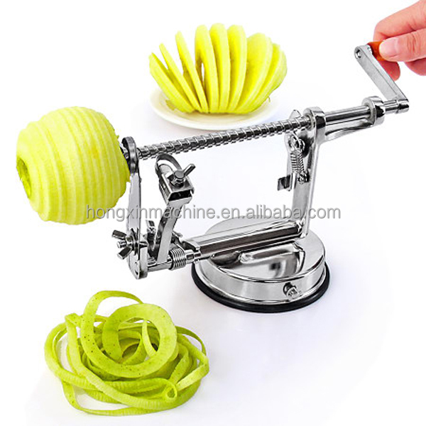 Manual multifunction 3 in 1 apple core <strong>remover</strong>,apple peeler ,apple cutter