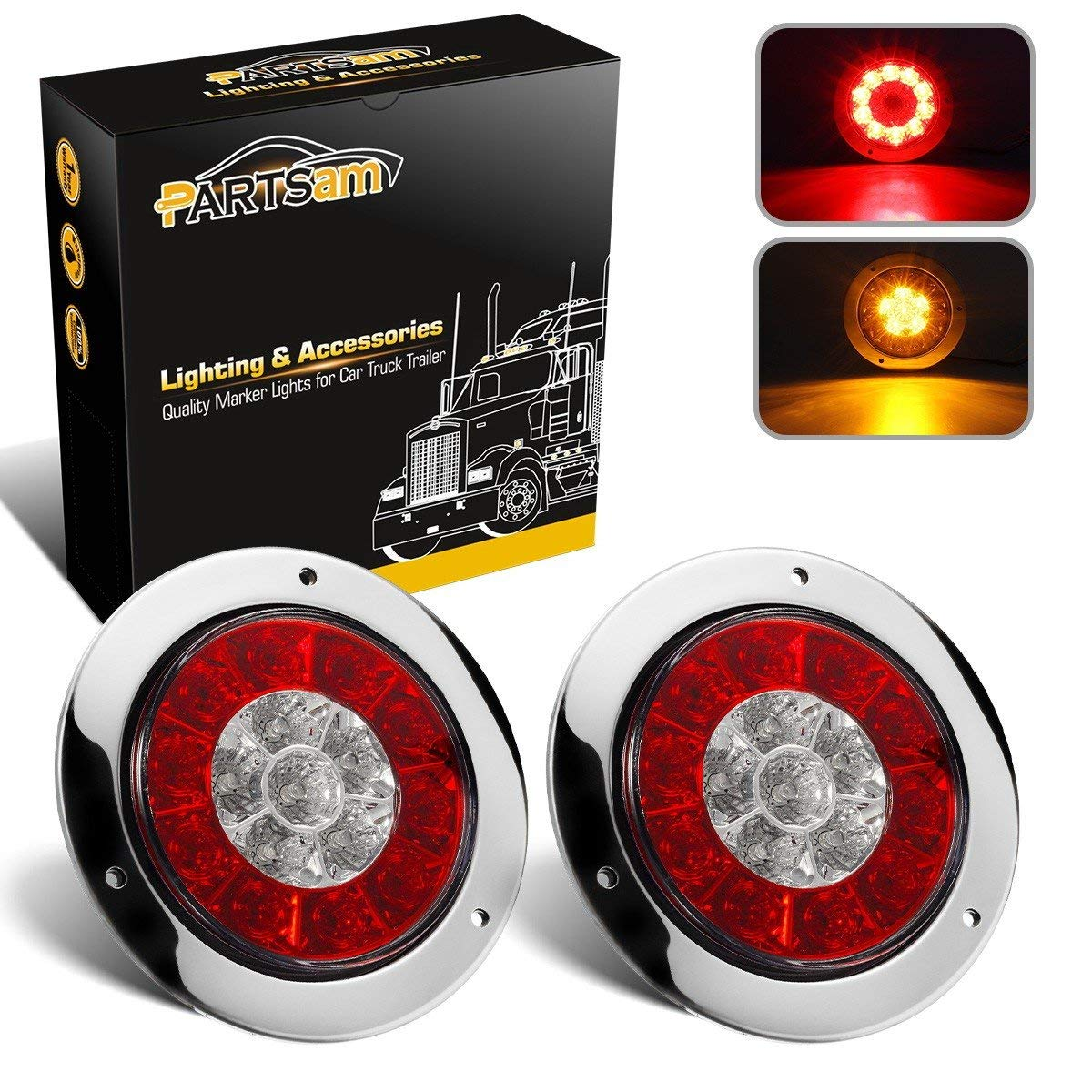 Buy Partsam 4 U0026quot  Inch Round Truck Trailer Led Tail Stop