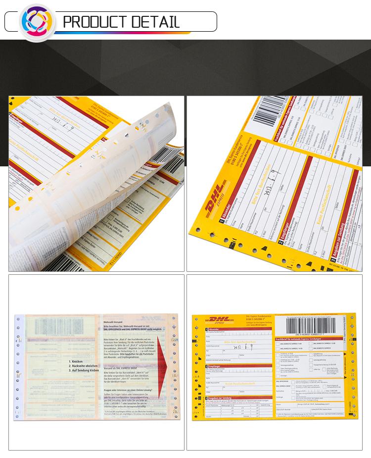 Personalizado DHL CORREIO airway bill BILL impressão