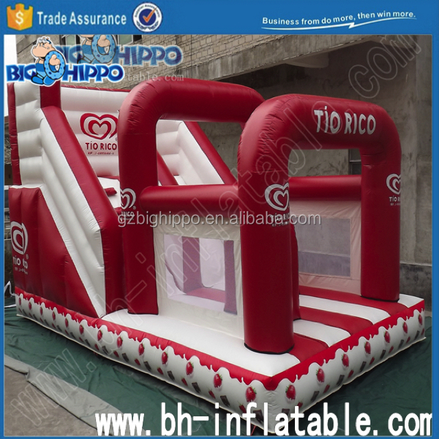 Strawberry Bouncy Slide with arch
