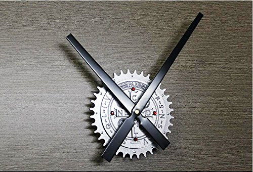 Reliable_E Gear Wheel Large Clock Hands Power Movement DIY Wall Clock Kit for Home Decoration (E#silver-cross)