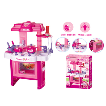 Chinese Toy Manufacturers Indoor Plastic Electric Kid Kitchen Set Kids Product On