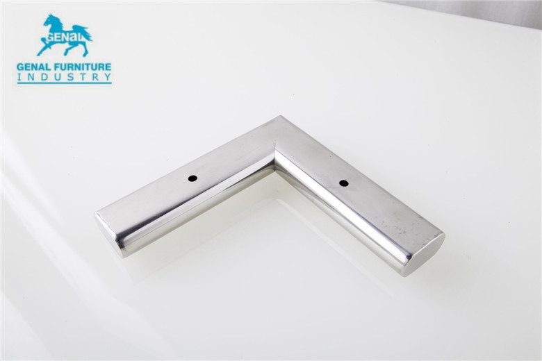 Stainless Steel Furniture Legs And Feet, L Shape Shiny Furniture Sofa Legs