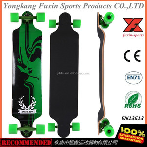 "HOT Maple Long Board Skateboard 42"" 9.8 Europe 107cm Abec 11 Longboard"
