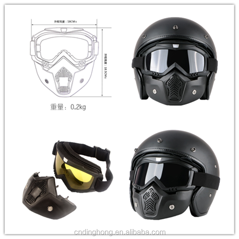 Harley Full Face Shock Resistant Tactical Goggles Outdoor Army Fans CS Anti-fog Riding Glasses COS Mask