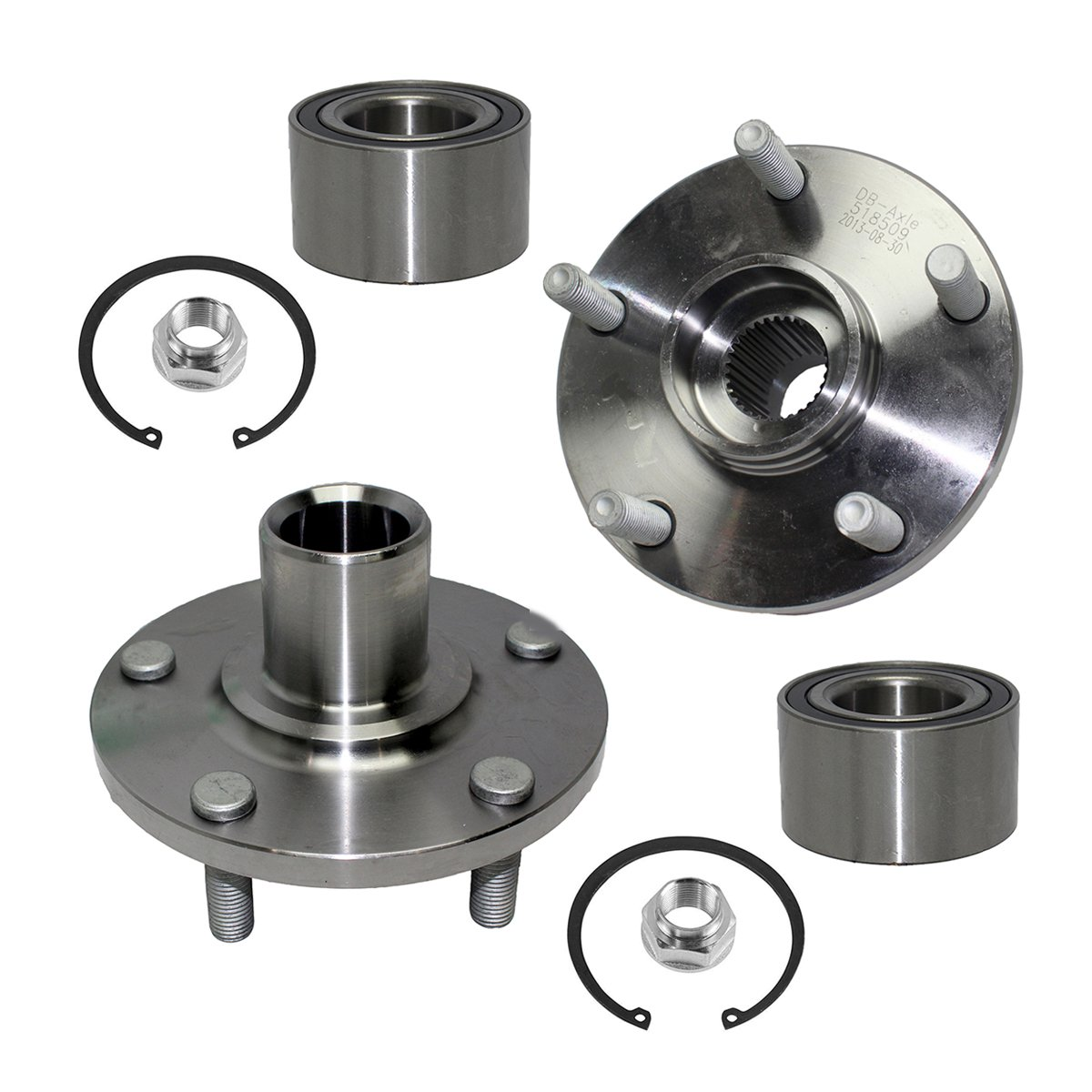 Detroit Axle - Front Wheel Bearing & Hub Assembly Left & Right Side for 92-03 Lexus ES300 - [92-03 Camry] - 95-04 Avalon - [98-03 Sienna] - 99-03 RX300 FWD - [99-03 Solara V6 Only]