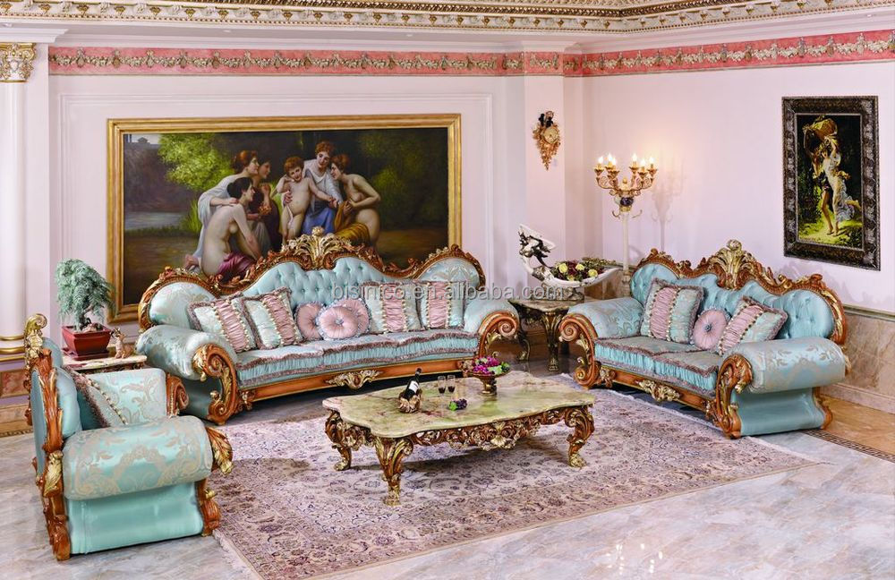 Pleasant Luxury French Baroque Style Living Room Blue Sofa Set Fancy Palace Style Wood Carving Upholstered Fabric Sofa Moq 1 Buy Living Room Fabric Download Free Architecture Designs Scobabritishbridgeorg