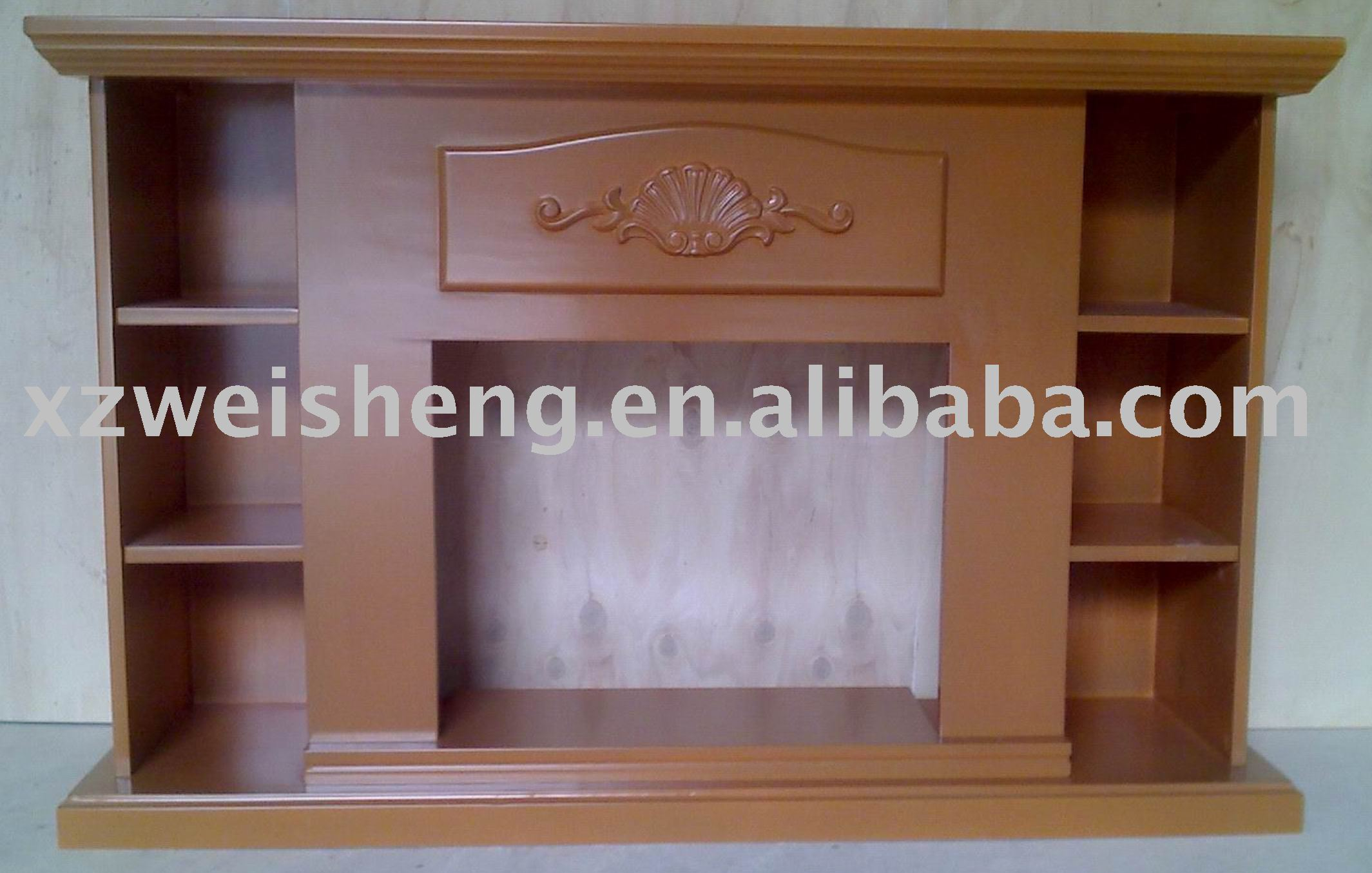 Wooden Electrical Fireplace Mantel